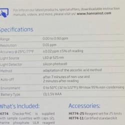 Hanna Checker HI774 Phosphate ULR Yedek Reagent